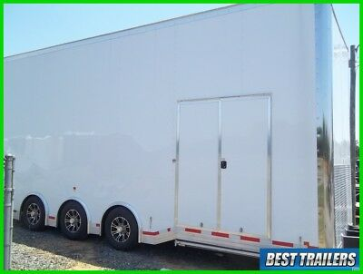 8 x 26 enclosed cargo stacker trailer loaded w car lift cabinets electric 26 ft