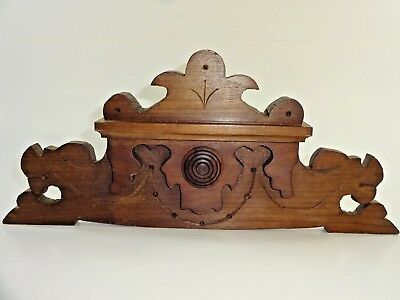 """Beautiful Ornate Wood Finial for Clock and Cabinet Mantle Decor 12 7/8"""" x 5 3/4"""""""