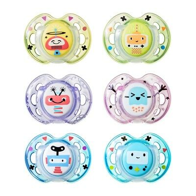 Tommee Tippee Fun Style Soothers 0-6 months Boys/Girls - CHOICE OF DESIGN (A99)