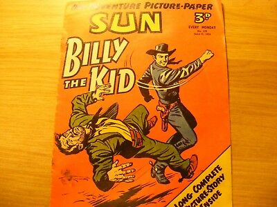 1954 SUN Weekly- Billy the Kid dated June 12th 1954, in ok condition- number 279