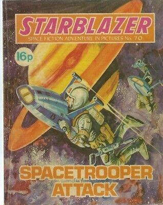 Spacetrooper Attack,starblazer Space Fiction Adventure In Pictures,comic,no.70