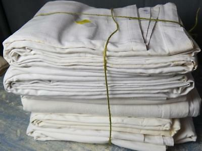 6 Vintage French Linen mix Sheets project crafts upholsery Metis linen 8kg 17lbs