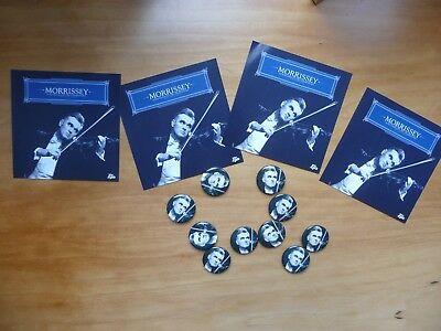 10 x  MORRISSEY PROMO BADGES  + 4 PROMO STICKERS THE SMITHS INDIE