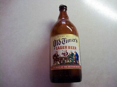 West Bend OLD TIMERS BEER Quart 32oz BOTTLE  LITHIA Brewing Wisconsin Wi Walter
