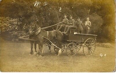 Worthing    Horse Carriage Carrying Soldiers.          Carter Rp