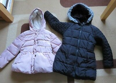Girls winter warm coats bundle great for school nursery 4-5 5-6