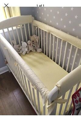 4 X BABY COT TEETHING RAIL COVERS  ( Handmade )