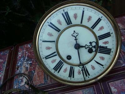 Vintage Vienna Clock Movement With Dial ,Pendulum & Key For Restoration