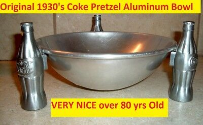 1935 Coca Cola Soda Pop Coke Brunhoff Pretzel Bowl 83 Yrs Old Coke Advertising