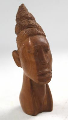 Small Vintage Hand Carved Wooden HEAD - STATUE/ORNAMENT - U04