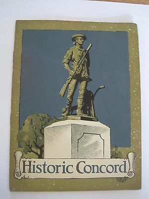 1924 Vintage Book Historic Concord published by John Hancock Life Ins. Co.
