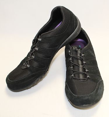Womens Black SKECHERS Lace Up Comfort Active Trainers Sneakers Size UK 6 - L11