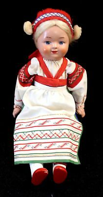 Vintage Handmade RUSSIAN DOLL In Traditional Clothing - BOXED - N46