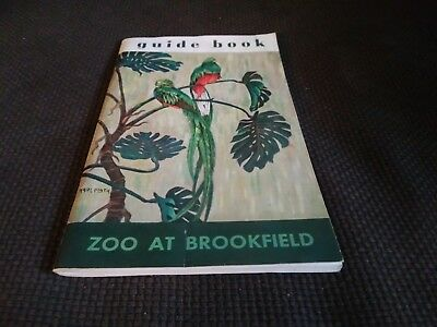Brookfield Zoo Guide Book 1957 Chicago With Map and Postcards