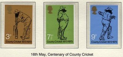 GB 1973 County Cricket SG 928-930 MNH Mint