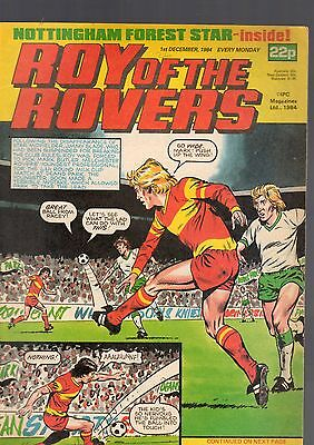 (-0-) Roy Of The Rovers Comic 1St December 1984 & Star Wars Rancor Advert Rare