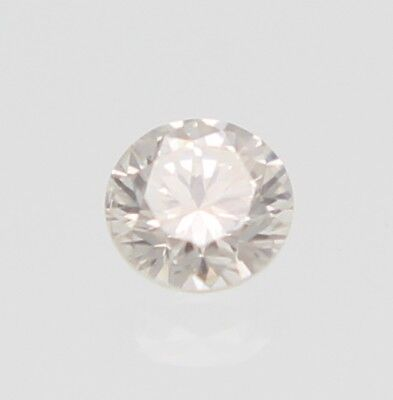 0.30 Carat Marron Clair Couleur VS1 Rond Brillant Naturel Diamant Seul 4.3mm