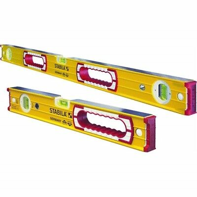 Stabila 48-Inch and 16-Inch Aluminum Box Beam Level Set