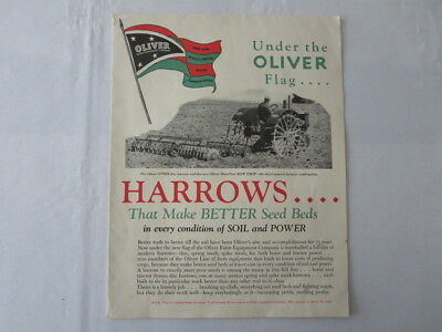 Vintage Early Oliver Farm Company Harrows Row Crop Plow Sales Brochure Catalog