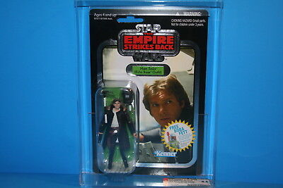 Star Wars Afa Graded 2010 Tvc Mint On Card Figure Han Solo Silver #3 Hasbro 8.5