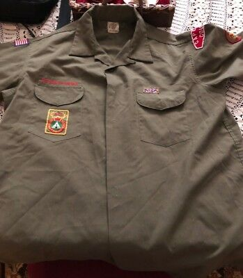 Vintage Boy Scouts Of America Long Sleeve Shirt Ranger Patch Cape Cod Council