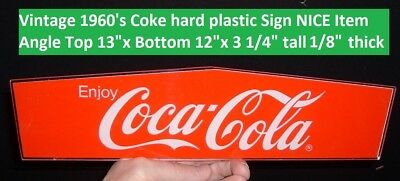 Vintage Coca Cola Soda Pop 60's Plexiglass Acrylic Old Coke Advertising Sign