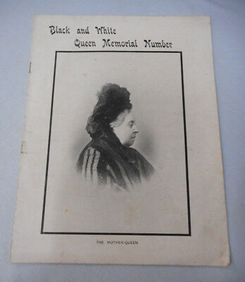 #t117.   1901 Black & White Queen Memorial Magazine -  Queen Victoria