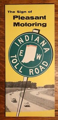 1961 Northern Indiana Toll Road Highway Safety Brochure - Pre-Interstate 90