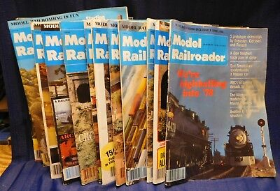 Model Railroader Magazine Complete Year 1978 12 issues