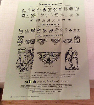 Adana Christmas Ornaments Single Sheet-opens up to full A4 size sheet one sided