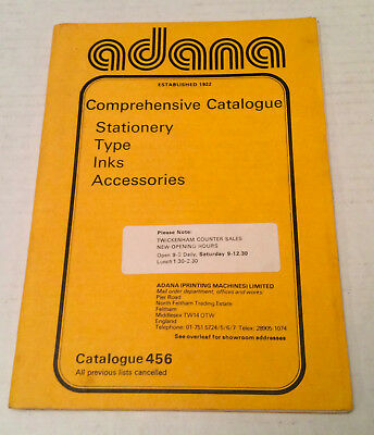 Adana comprehensive Catalogue-Stationery, Type, Inks, Accessories