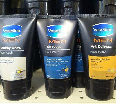 Vaseline Men Face Wash 6 Pack for Visibly Better Skin 100 grams Shipped .