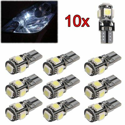 10 Pcs 5 SMD LED T10 Lampe weiß CANBUS Standlicht Innenraum Glassockel 12V Licht