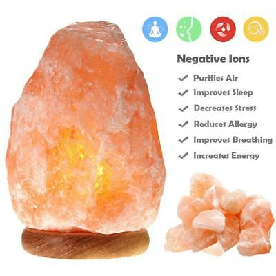 Orange Himalayan Crystal Natural Rock Salt Lamp Natural Healing Ionizing 3-6LBS