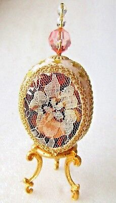 """EGG  ORNAMENT HAND CRAFTED """" POT  POURIE """"  """"5 inch (12.5cm)"""