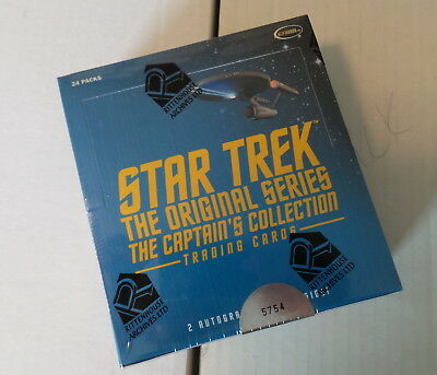 Star Trek The Original Series Captains Collection Factory Sealed Box ARCHIVES !