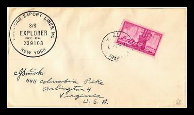 Dr Jim Stamps Us Ships Mail Ss Explorer New York Tied Postal History Cover