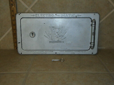 Vintage Traffic Light Controller Box with Key Actuated Signal Control Box