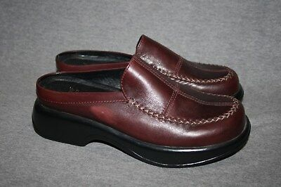 Dansko Brown Leather Mules Clogs 41 / 10.5 - 11