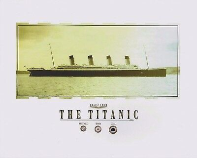 TITANIC relics, artifacts COAL, WOOD, RUSTICLE pieces, specks, RMS TITANIC 8x10