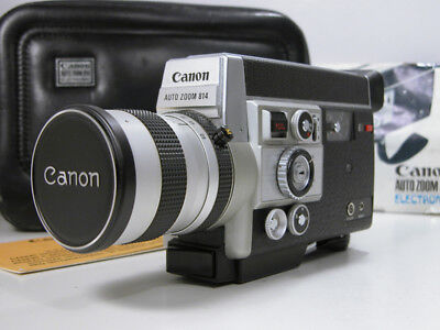 Beautiful & Working CANON Super 8 MOVIE CAMERA W/Case, Inst & Rare Slow Motion