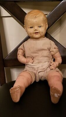 Composition Doll like Baby Dimples (MAKE OFFER) Sleepy Eyes Vintage 1920's