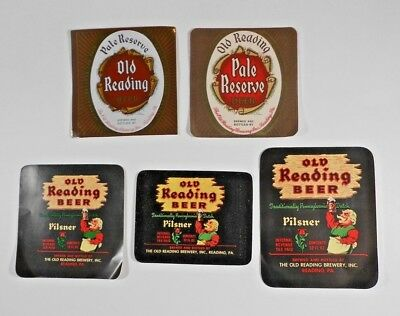 USA IRTP Beer Label Lot  #496 - Pennsylvania - Old Reading Beer - 5 Different