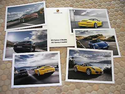 Porsche 911 991 C4 C4S Coupe & Cabriolet Postcard Set Of Six In Gift Box 2013.