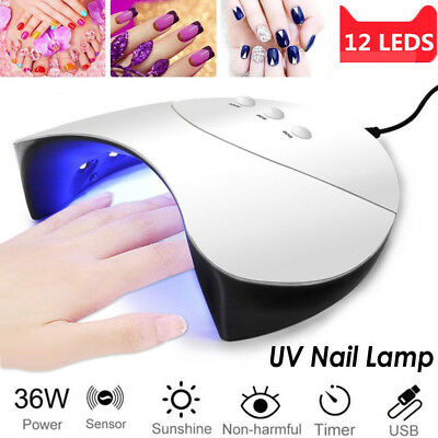Professional 36W 12LED Nail Dryer Cure Lamp Machine For UV Gel Nail Polish Light