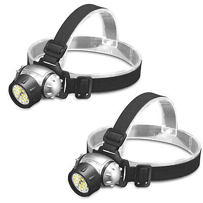 HEADLAMP FLASHLIGHT SB-800 LED Headlight Headband Light Torch 2-PACK USA