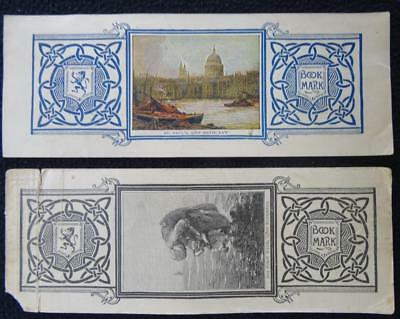 2 x Antique Edwardian Advertising Scottish Widows Fund Bookmark - Printed Card