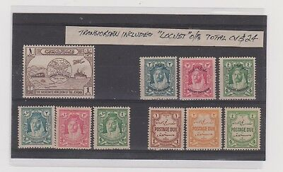 Jordan Old Stamps Lot With Locust Overprints