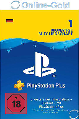 [DE] PSN PlayStation Plus 30 Tage 1 Monate - PSN Network Live Card Download Code