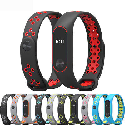 Original For Xiaomi Mi Band 2 Strap TPU Adjustable Bangle Soft Silicone Strap